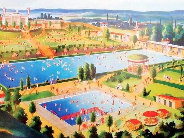 TYRŠOVO KOUPALIŠTĚ mělo v době svého vzniku jen jeden velký bazén a brouzdaliště.