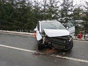 Nehoda na trase Dolní Kalná - Horní Olešnice.