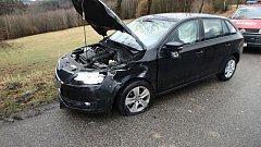 Střet dvou aut u Stanovic.