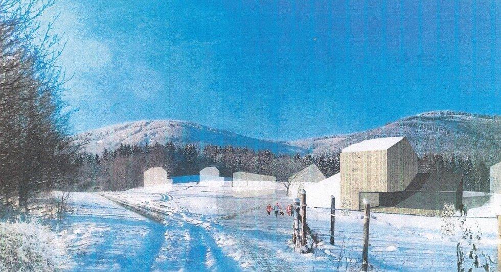 Na krkonošských loukách v katastrálním území Mladých Buků plánují vlastníci pozemků postavit obytný a rekreační komplex.