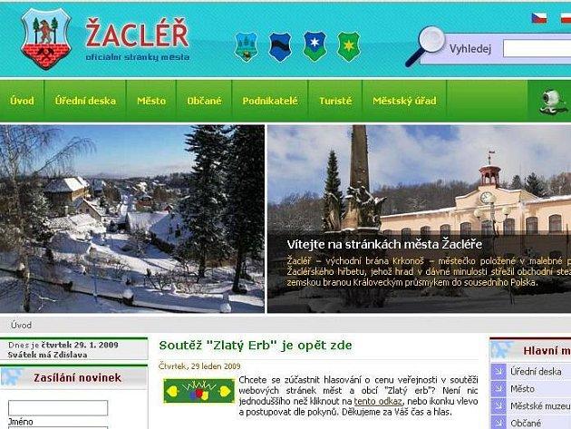 Web Žacléře