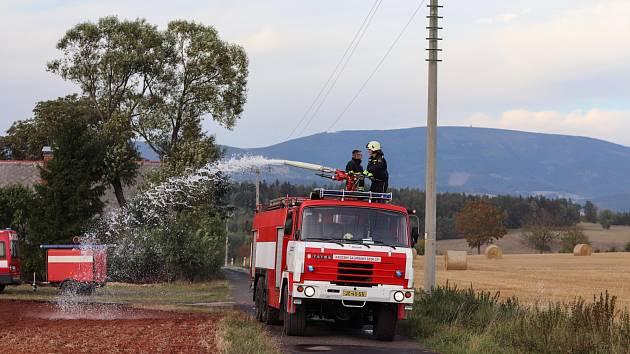 Požár v Horní Kalné.