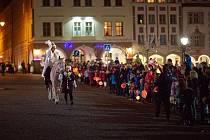 Svatý Martin na bílém koni v Trutnově.