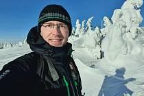 Fotograf Miloš Šálek z Trutnova se pohyboval v pondělí nedaleko míst, kde spadla lavina.