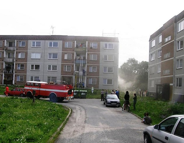 Požár v bytovém domě, Hodkovice nad Mohelkou