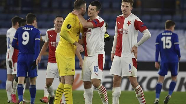 Fotbalisté pražské Slavie překvapivě vyřadili z Evropské ligy anglický Leicester City.
