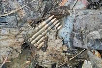K podezřelému nálezu v lese musel vyrazit i pyrotechnik