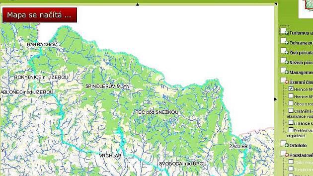 Krnap: mapový server