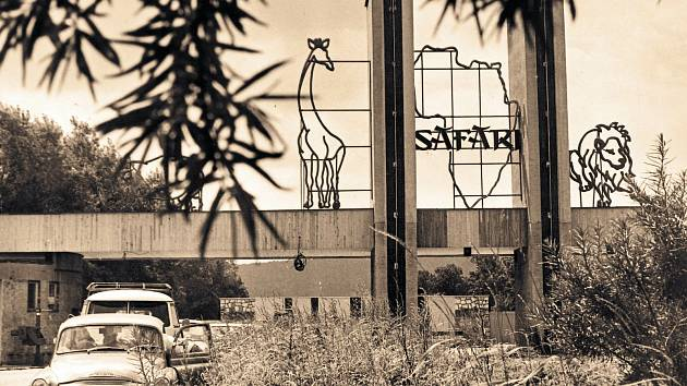 Brána vjezdu do safari.