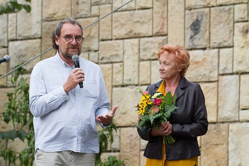 Dcera Josefa Vágnera Lenka Vágnerová při oslavách 75. výročí založení zoologické zahrady ve Dvoře Králové nad Labem.