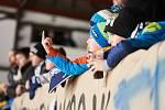 Hokejisté Dvora Králové porazili rivala z Trutnova poosmé v řadě. Ale tentokrát se na tři body pořádně nadřeli.