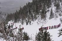 Ze zásahu Horské služby u nedělní laviny v Krkonoších.