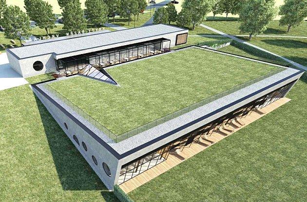 Vizualizace nového krytého bazénu, který má vyrůst ve Vrchlabí.