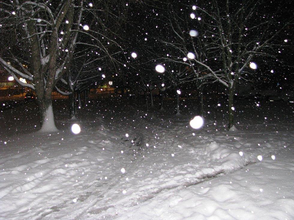 Sněhová nadílka v Trutnově