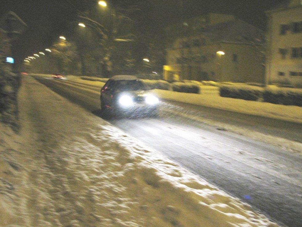 Trutnov po sněhové nadílce - 23. listopadu 2008, v 19 hodin