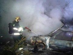 Lednové požáry automobilů na Semilsku