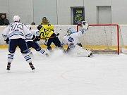 Vrchlabští hokejisté vezou výhru 1:0 z ledu pražské Kobry.