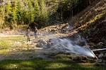 Obojživelníky v horách zachránily proudy vody.