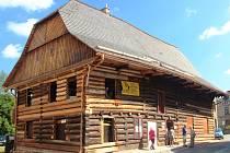 Dřevěnka, nejznámější stavba v Úpici.