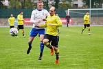 Fotbalisté Trutnova na vlastním trávníku nestačili na favorita z Vysokého Mýta (0:2).