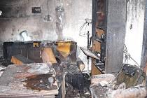 Požár bytu v Úpici na Štědrý den způsobila nejspíš závada na televizoru