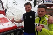 JDOU DO TOHO! Olympijské hry v Krkonoších nejsou fikce, říkají starosta polské Karpacze Radoslaw Jecek (vlevo) a radní Tomasz Stanek, šéf komise sportu a turistiky.