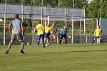 Fotbalisté Vrchlabí v krajském přeboru podlehli Dobrušce. Rozhodl gól Kořínka.