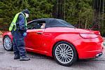 Policisté v sobotu kontrolovali řidiče v Horním Maršově.