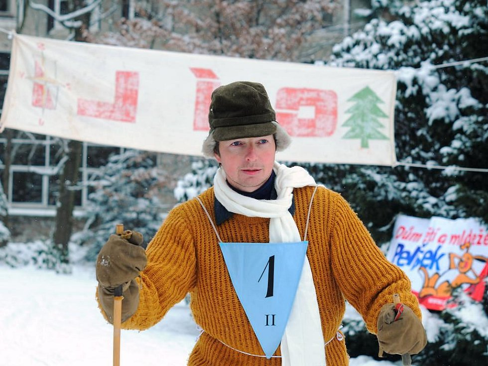 Lyžařské závody po staru ve Vrchlabí