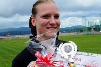 ŠÁRKA JIROUŠOVÁ po úspěšném závodě na letošním krajském kole v Semilech.