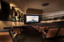 Vizualizace chystaných interiérů kina Vesmír v Trutnově.