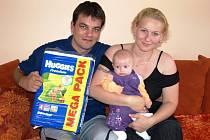 Kateřina Široká s rodinou