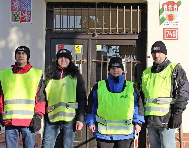 Asistenti prevence kriminality ve Dvoře Králové nad Labem.