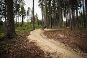 Čížkovými kameny nad Trutnovem se prohání stále více bikerů. V pátek zkoušeli terén pod vedením Dušana Mihalečka