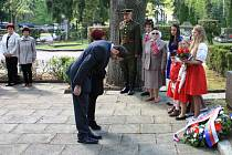 Uctili památku padlých za druhé světové války