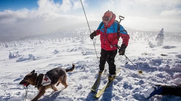 Trénink horských záchranářů