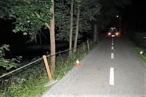 Noční cesta opilého cyklisty skončila v řece Úpě