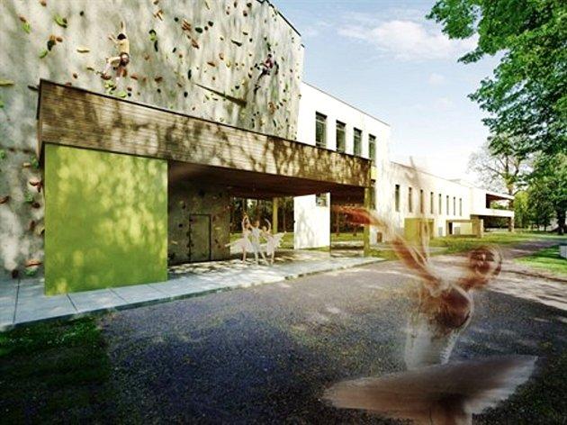 Projekt chystaného trutnovského Střediska volného času na Nivách vychází zarchitektonického návrhu kanceláře Rosa.