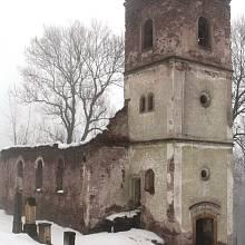 Kostel v Rudníku je žalostná ruina