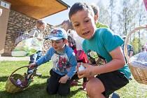 Lov velikonočních vajíček v trutnovském kempu Dolce.