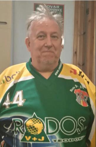 Pekka Lahtinen vdresu HC Rodos Dvůr Králové nad Labem.