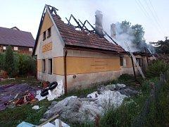 Ve Vilanticích shořel rodinný dům.