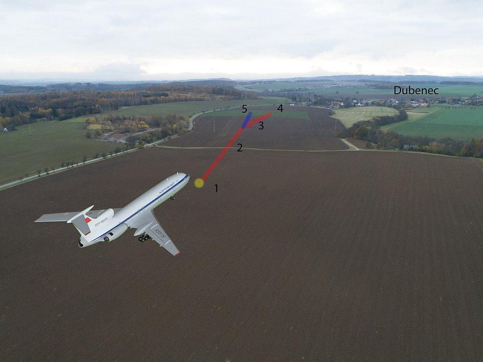Pilot Aleš Tauchman ze Dvora Králové provedl počítačovou rekonstrukci nouzového přistání ruského letadla Tupolev 154.