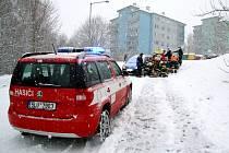Jedna z nehod na sněhu v regionu.