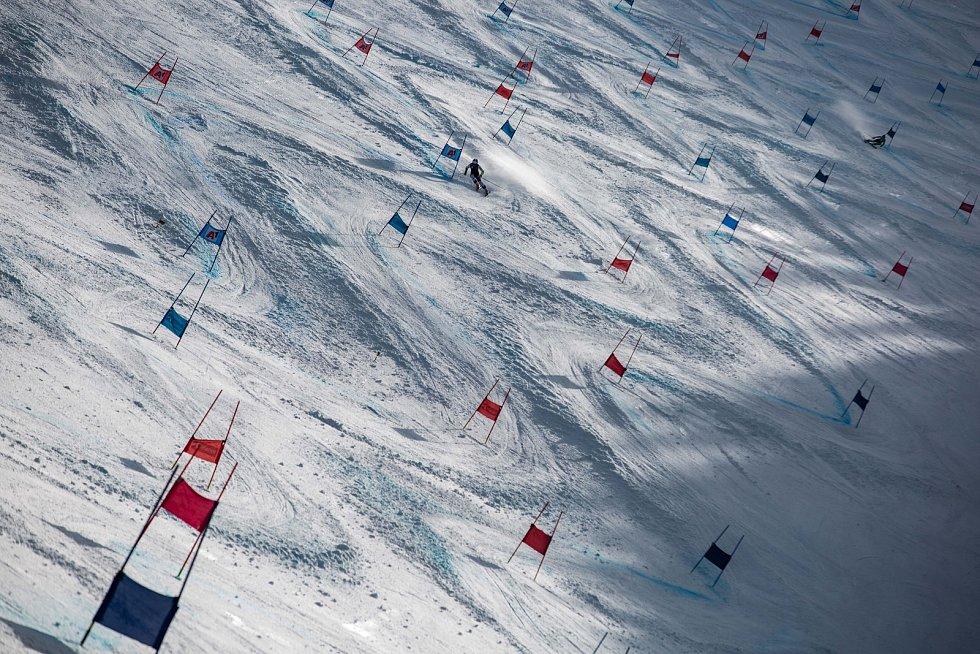 Světový pohár v lyžování ve Špindlerově Mlýně: trénink na sjezdovce Stoh.