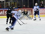 Z duelu 2. hokejové ligy Vrchlabí - Bílina (6:3).