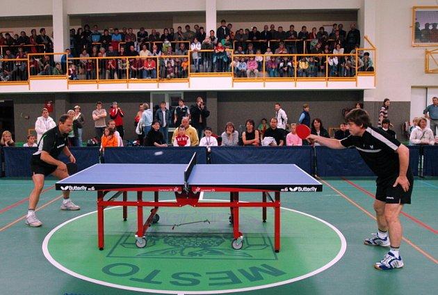 Exhibice v městské sportovní hale