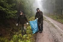 Krkonoše jsou opět čisté. Pomohli dobrovolníci.