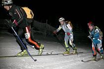 Výstup skialpinistů na Černou horu