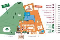 Plánek festivalového areálu.